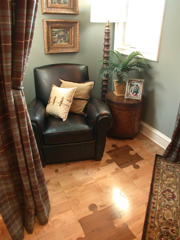 the new puzzle floor elicits expressions of surprise and amazement for decades hardwood floors have been limited to either strip or plank configurations - Puzzle Wood Flooring